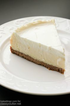 Classic Cheesecake with Sour Cream Topping - Classy Clutter