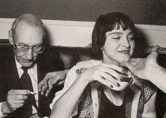 Madonna and William S Burroughs at Studio 54