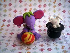 Peças para o topo de bolo O circo para meninas by Sonho Doce Biscuit *Vania.Luzz*, via Flickr