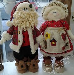 Papâ y mamâ claus Christmas Elf Doll, Christmas Makes, Very Merry Christmas, All Things Christmas, Handmade Christmas, Christmas Holidays, Noel Gallagher, Cute Crafts, Christmas Crafts