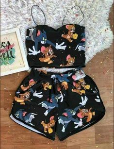 Cute Disney Outfits, Cute Lazy Outfits, Teenage Outfits, Outfits For Teens, Trendy Outfits, Cute Pajama Sets, Cute Pjs, Cute Pajamas, Girls Fashion Clothes