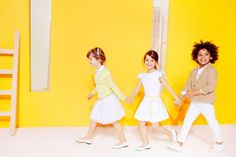 Smart Spring outfits for little ones in crisp white, classic beige, citrus brights and fresh florals, ideal for parties and special occasions!
