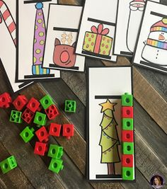 Christmas and Gingerbread December Themed Math and Literacy Centers for Preschool (and Freebie)Christmas (December) Math and Literacy Centers for Preschool. Preschool Christmas Activities, Preschool Themes, Kindergarten Rocks, Christmas Themes, Christmas Maths, Kindergarten Christmas, Retro Christmas, Christmas Christmas, Christmas Lights