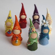 Tiny peg dolls weari
