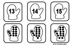 Το νέο νηπιαγωγείο που ονειρεύομαι : Καρτέλες ταύτισης και αρίθμησης με γαντάκια