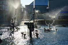 The Tinguely fountain by the theatre: Swiss painter and sculptor Jean Tinguely created the always-moving, playful fountain in 1977.