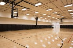 Full size indoor basketball court