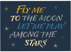 'Fly me to the moon' by Martina Flor for lettercollections.com