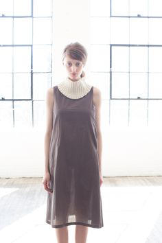 F13: Cotton Voile Pocket Dress and NA10: Chunky Head / Neck Warmer