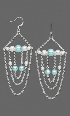 pretty earrings for weddings w/different pearls or crystals to match bride's maid colors