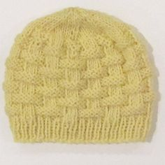 Basketweave baby hat