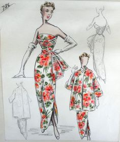 Gallery.ru / Фото #1 - VICTOR STIEBEL - Evening Dresses Sketches 60s - agent-lee