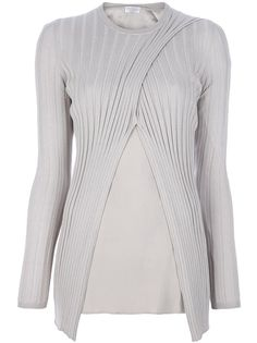 Brunello Cucinelli, I love you dearly, but you are way out of my price range... Brunello Cucinelli Criss Cross Ribbed Sweater