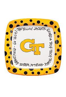 Georgia Tech Yellow Jackets Square Plate