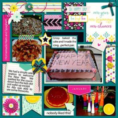 Layout using A New Year Bundle by Digital Scrapbook Ingredients. Now on sale at The Digital Press and is also available in separate packs. I also used one of her Lay Out Your Day 4 Templates
