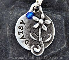 Dog Tag - Pet Tags - Dog Id Tag - Pets Accessories - Flower with Crystal Jewel on Etsy, $14.75 AUD
