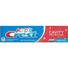 Crest Kids Cavity Protection Sparkle Fun Flavor Toothpaste, 4.6 oz
