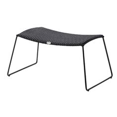 Breeze footstool, black, by Cane-line.