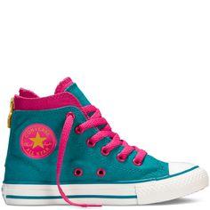 Love the color combination. http://www.converse.com/regular/chuck-taylor-back-zip-yth%2Fjr/645212F_110.html