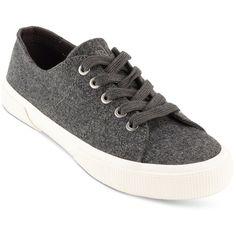 Lauren Ralph Lauren Women's Jolie Sneakers ($40) ❤ liked on Polyvore featuring shoes, sneakers, grey flannel, grey sneakers, grey shoes, grey flannel sneakers, gray shoes and grey flannel shoes