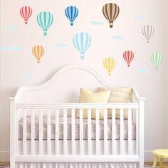 hot air balloon wall stickers by parkins interiors   notonthehighstreet.com