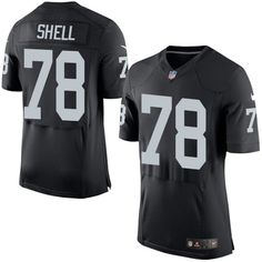 b32bba2f05b Nike Elite Art Shell Black Men s Jersey - Oakland Raiders  78 NFL Home