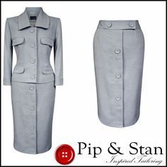 1950s inspired 2 piece suit. Length from collar: 22 55. Length: 24 61. Rest of world £40. US £35. EU £30. Rest of world £25. US £25. | eBay!