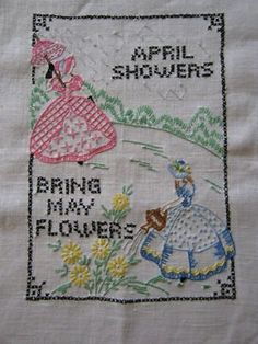 vintage embroidery. Very Gone With the Wind :)