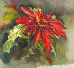 Houseplants for Better Sleep Original Watercolor Painting Titled Mele Kalikimaka Which Is How You Say Merry Christmas In Hawaiian. Poinsettia Plants Grow Everywhere Here On Maui. Silver Christmas Decorations, Diy Christmas Ornaments, Christmas Art, Christmas Blocks, Christmas 2017, Watercolor Cards, Watercolor Flowers, Watercolor Paintings, Abstract Paintings