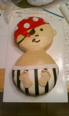 Pirate babyshower cake