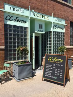 C.C. Ferns for coffee & doughnuts in Humboldt Park.