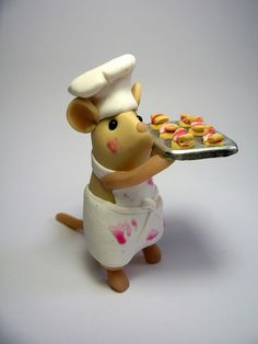 Chef mouse by Quernus Crafts ... I love her work.!!!