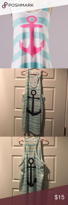 NWT Fantastic Fawn tank Brand new never worn with boutique tags still attached. Semi sheer. Anchor on front and back. Selling the shirt with the blue anchor, not pink. Fantastic fawn  Tops Tank Tops