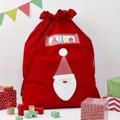 Christmas Santa Sacks | personalised christmas santa sack by tilliemint ...