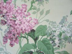 Vintage Wallpaper c1940s Spring Lavender Lilacs by FSBstudio, $14.99