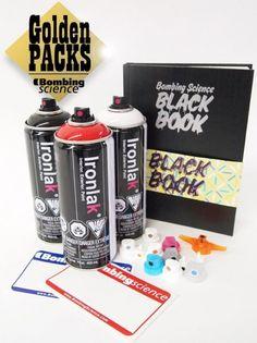 Golden Packs (Starter Kit 2 - IRONLAK) Graffiti Lettering, Graffiti Art, Graffiti Supplies, Graffiti Spray Paint, Science Books, Exterior Paint, Starter Kit, Packing, Bag Packaging