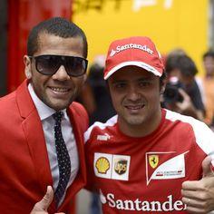Felipe Massa with Daniel Alves - 2013 Spanish GP Daniel Alves, Formula One, Spanish, Mens Sunglasses, Health, Instagram Posts, Sports, People, Hs Sports