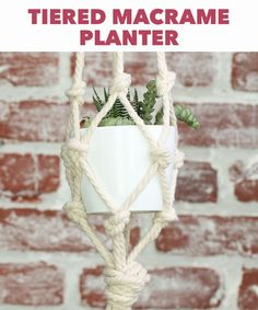 This tiered macrame planter is an ideal DIY for amateur weavers.