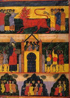 The Beatus of Facundus (1047) Apocalypse, Fra Angelico, Japanese Folklore, 22 November, Angels And Demons, Medieval Art, Western Art, Illuminated Manuscript, Byzantine