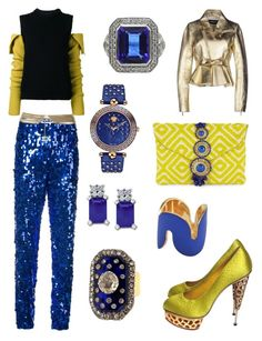 """""""Sun Groove Blues"""" by robin-groover on Polyvore featuring MSGM, Calvin Klein 205W39NYC, Charlotte Olympia, Chanel, Dsquared2, Steve Madden, Versace and Uncommon Matters"""