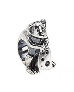 Kera™ Sterling Silver Mouse with Cheese Bead