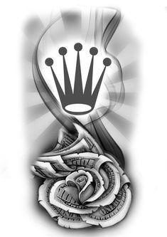 Chicano Tattoos Sleeve, Forarm Tattoos, Dope Tattoos, Body Art Tattoos, Tattoos For Guys, Tattoo Sleeve Designs, Tattoo Designs Men, Money Rose Tattoo, Dollar Tattoo