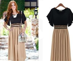 New Fashion 2014 Women Summer Long Bohemian Dress High Waist Ruffle Sleeve Sexy Vintage Long Chiffon Maxi Dresses Plus Size-inDresses from Women's Clothing & Accessories on Aliexpress.com | Alibaba Group