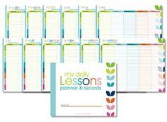 Free Homeschool Lesson Planner  www.confessionsofahomeschooler.com