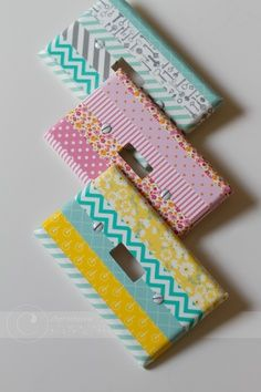 The best diy projects & diy ideas and tutorials: sewing, paper craft, diy. diy crafts ideas washi tape projects and inspiration. Diy Masking Tape, Washi Tape Crafts, Washi Tapes, Washi Tape Uses, Cool Diy Projects, Craft Projects, Craft Ideas, Easy Crafts, Diy And Crafts