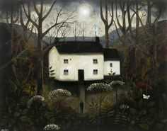 John Caple - The Broomsquire's Cottage</i> Acrylic on canvas 22 x 27¼ ins, 60 x 70 cms