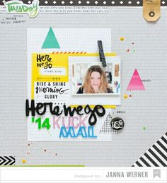 #papercraft #scrapbook #layout. Janna Werner - 2