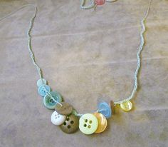 twobutterflies: 30 Days For 30 Dollars - Day 7 - A Button Necklace