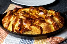 salted carmel morning bread pudding, from the oven