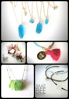 Casual Necklaces and Bracelets from JewelryByMaeBee for Christmas! www.jewelrybymaebee.etsy.com